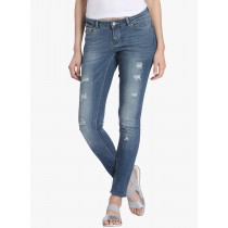 Light Blue Slim Fit Low Rise Jeans