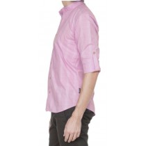 Light Lilac Dobby Casual Shirt With Front Yoke
