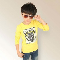 Long Sleeve Boy Cool Style Owl Print Tshirts