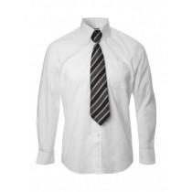Long Sleeves Simple Plain White Formal Shirt