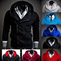 Men Hoodies Zipper Sweatshirt Jacket