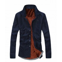 Men's Fashion Fleece Winter Warm Long Sleeve Casual Shirts