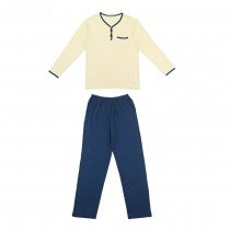 Men Stylish Patchwork Lounge Wear Pajama Sets