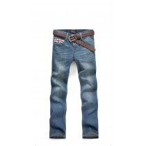 Mens 100% Cotton Blue Straight Jeans