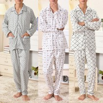 Mens Breathable Pure Cotton Casual Pajamas Sets
