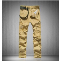 Mens Camouflage Cotton Cargo Trousers