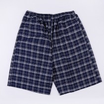 Mens Casual Plaid Loose Trunks Shorts