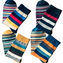 Mens Colored Striped Pattern Socks
