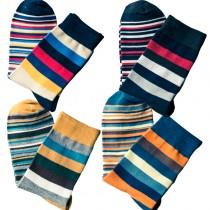 Mens Colored Striped Pattern Socks