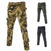 Mens Cotton Camouflage Cargo Trousers