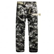 Mens Cotton Multi-Pocket Cargo Trousers