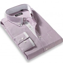 Mens Double Collar Striped Formal Shirts