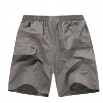 Mens Elastic Middle Waist Casual Shorts