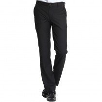 Mens Flat Front Black Formal Trousers