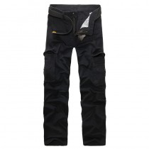 Mens Full Length Cotton Cargo Trousers