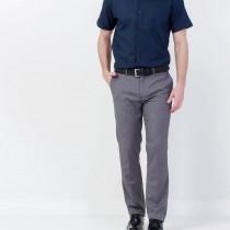 Mens Grey Zipper Fly Formal Trousers