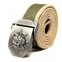 Mens High Quality Canvas Casual Striped Belts