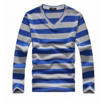 Mens Knitted Multicolored Stripe Sweaters