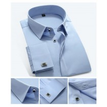 Mens Long Sleeve cuff-links Formal Shirts