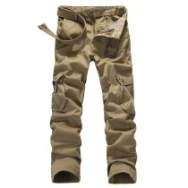 Mens Military Multi-Pocket Cargo Pants