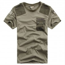 Mens Military Short Sleeve Casual Tshirts