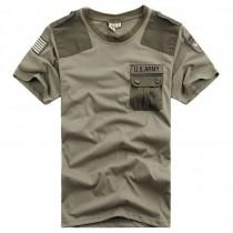 Mens Military Short Sleeve Casual Tshirts