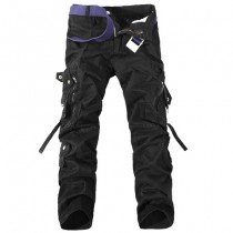 Mens Multi-Pocket Army Cargo Trousers