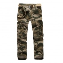 Mens Multi-Pocket Cargo Trousers