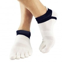 Mens New Casual Cotton Sports Five Finger Ankle Socks