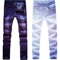 Mens New Classic Style Slim Fit Denim Jeans