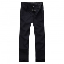 Mens New Flat Front Long Formal Trousers