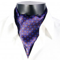 Mens New Printed Pattern Silk Collar Scarves