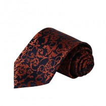 Mens Paisley Jacquard Tie With Handkerchief