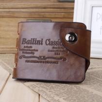 Mens PU Leather Bifold Letter Pattern Wallets