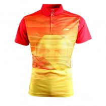 Mens Quick Dry Striped Sport Polos Tshirts
