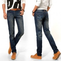 Mens Regular Fit Straight Jeans