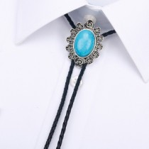 Mens Rose Blue Turquoise Agate Tie