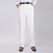 Mens Slim Fit White Formal Trousers