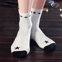 Mens Stylish Elastic Cotton Striped Socks