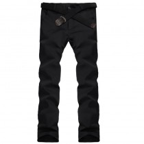 Mens Zipper Fly Formal Trousers