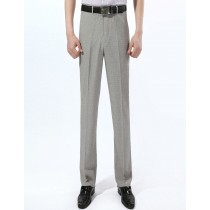 Mens Zipper Fly Linen Formal Trousers
