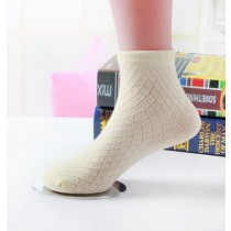 Mesh Pattern Thin Soft Cotton Girl Socks