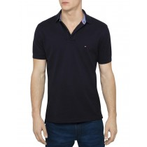 Mid Night Black Short Sleeve Polo Tshirt
