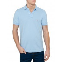 Modern Light Blue Cotton Polo TShirt
