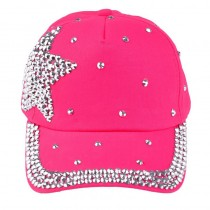 Modern Rhinestone Star Boy And Girl Caps