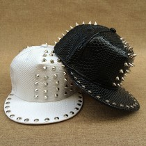 Modern Rivet Punk Style Rock Caps