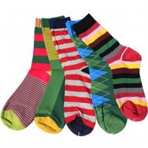 Multi Pattern Cotton Colorful Men Socks
