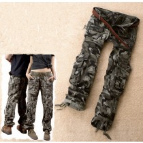 Multi Pocket Military Straight Casual Cargos