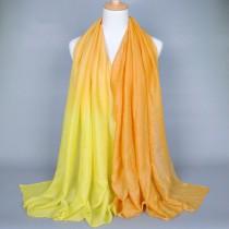 Multicolored Glitter Printed Women Long Shawls
