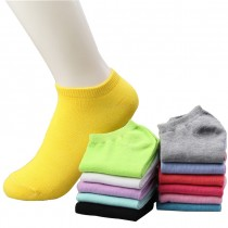 Multicolored Womens Cotton Ankle Socks